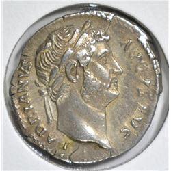 117-138 AD SILVER DENARIUS ROME EMPEROR