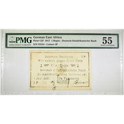 1917 1 RUPIE GERMAN EAST AFRICA