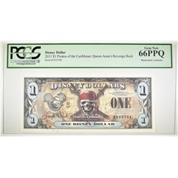 2011 $1 DISNEY DOLLAR  PCGS 66 PPQ