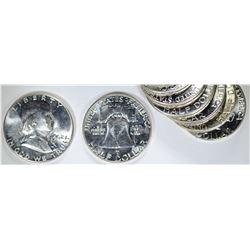 19-1962 & 1-1962-D FRANKLIN HALF DOLLARS
