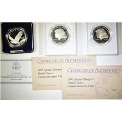 2-PROOF 1995 SPECIAL OLYMPICS & 2008 PF BALD EAGLE