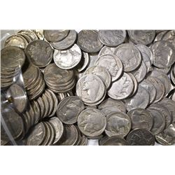 150-MIXED DATE BUFFALO NICKELS: