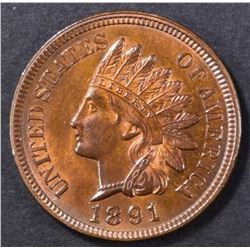 1891 INDIAN CENT GEM BU RB