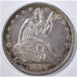 1860-O SEATED LIBERTY HALF DOLLAR CH AU