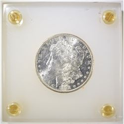 1881-S MORGAN DOLLAR CH BU IN PLASTIC DISPLAY