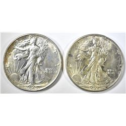 2-1945-S CH BU WALKING LIBERTY HALF DOLLARS
