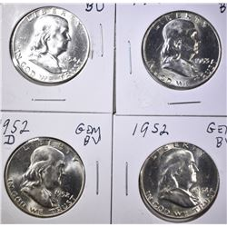 GEM BU FRANKLIN HALF DOLLARS: