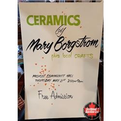 "Craft Fair Poster ""Ceramics by Mary Borgstrom"""