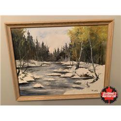 """Framed Art """"Snowy River"""" Artist: Jim White"""