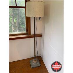 Floor Lamp w/Marble on Base