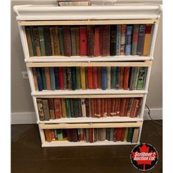 Barrister Bookcase (4 Stack) Painted White (Books sold separately)