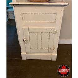 Small Antique Ice Box - Painted White