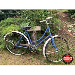 Blue/White Bicycle