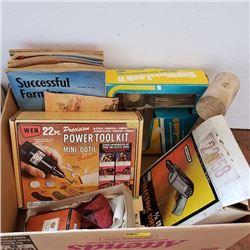 Tray Lot: Mens Grouping : Tools, Ties, Magazines, etc