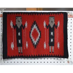 NAVAJO INDIAN TEXTILE (ROSE BOROLE)