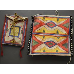 PLAINS INDIAN PARFLECHE POUCHES