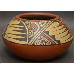 SANTA CLARA INDIAN POTTERY BOWL ( LELA AND LUTHER GUTIERREZ)