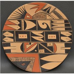 HOPI INDIAN POTTERY PLATE (FANNIE L POLACCA NAMPEYO)