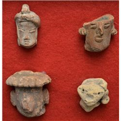 PRE-COLUMBIAN POTTERY HEADS