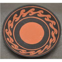 CHEMEHUEVI INDIAN POTTERY PLATE ( NIADI WILDFLOWER)