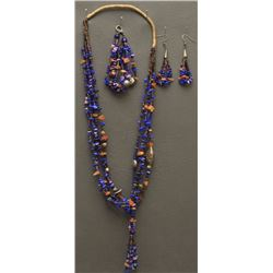 SANTO DOMINGO  INDIAN NECKLACE EARRING AND BRACELET