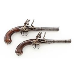 Pair of Queen Anne Style Flintlock Pistols