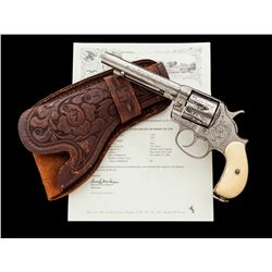 Engraved Colt Model 1878 Double Action Frontier Revolver