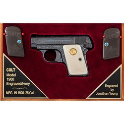 Engraved Colt Model 1908 Vest Pocket Pistol