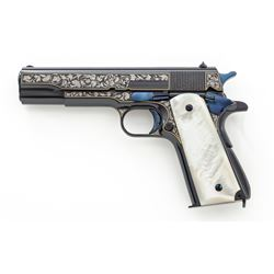 Fancy Engraved Remington-Rand Model 1911-A1 Semi-Auto Pistol