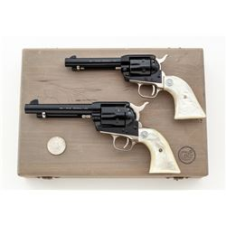 Cased Pair of Colt Nevada Centennial Single Action Revolvers