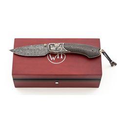 Wm. Henry Quarterly One-of-a-Kind B12 Damascus Knife