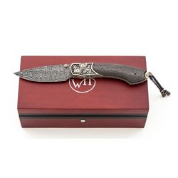 Wm. Henry Quarterly One-of-a-Kind B12 Damascus Knife