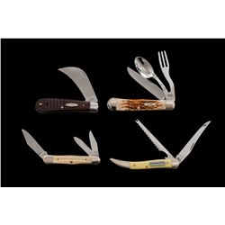 Lot of 4 New-in-Box Case Folding Knives