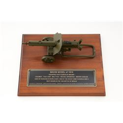 Model of Maxim 1910 Machine Gun