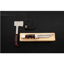 Buck Knife Lot: 124 Frontiersman  106 Camp Axe