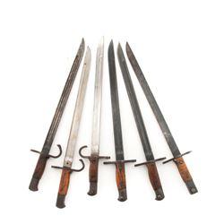 Lot of Six (6) Japanese Arisaka Bayonets