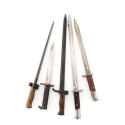 Lot of Five (5) Bayonets