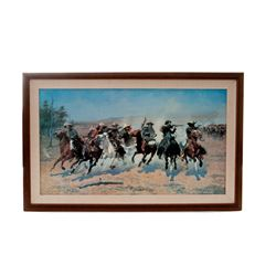 Remington Print: ''A Dash for the Timber''
