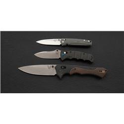 Lot of 3 Bench-made Folding Knives