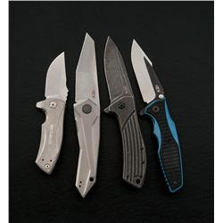 Lot of Four (4) Zero Tolerance Folding Knives