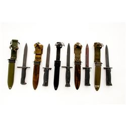 Lot of 5 Bayonets, with scabbards