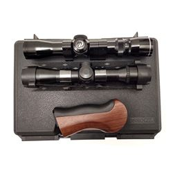 Lot of 2 Pistol Scopes and Thompson Contender Grip