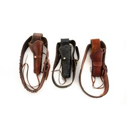 Lot of 3 Western Style Holster Rigs