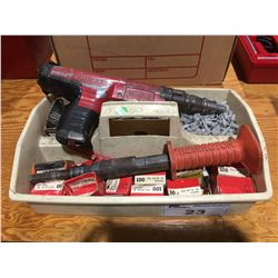 HILTI DX350 & REMINGTON CONCRETE FASTENING GUNS WITH HARDWARE