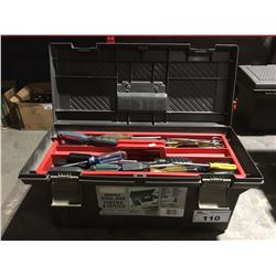 ROUGHNECK TOOLBOX & CONTENTS (GREY & RED)