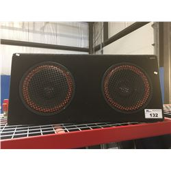 TARGA VEHICLE STEREO SUB WOOFER BOX WITH 2 SUB WOOFERS