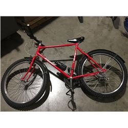RALEIGH 21 SPEED MOUNTAIN BIKE (RED)