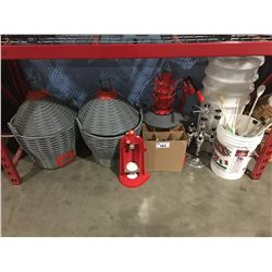 LARGE GROUP OF WINE MAKING & BREWING EQUIPMENT - A