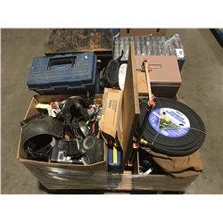 PALLET LOT OF ASSTD TOOLS, HARDWARE & MISC. - A