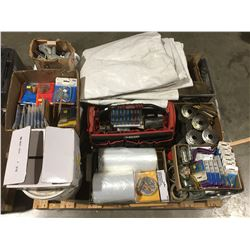 PALLET LOT OF ASSTD TOOLS, HARDWARE & MISC. - C